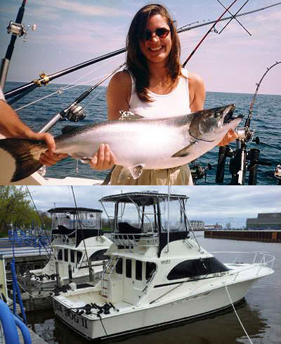 Sheboygan Salmon Charter Boats Fishing Wisconsin
