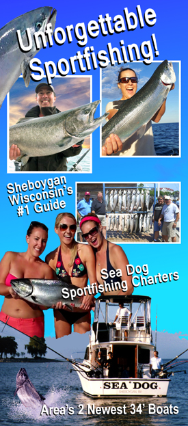 Sheboygan WI Charter Fishing for Trout & Salmon