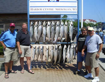 Wisconsin Charter Fish Caught on Lake Michigan Sheboygan